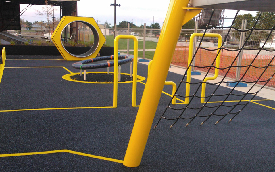 Harts Mill Playground - rubber surface installation